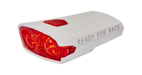 RFR Race red LED USB-Rücklicht matt weiß
